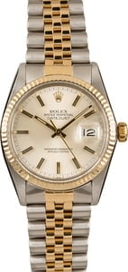 Used Rolex Silver Dial Datejust 16013