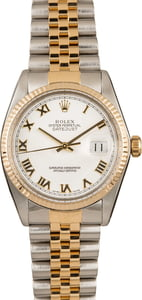 Pre-Owned Rolex Datejust 16013 White Roman Dial