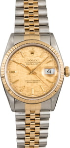 Pre Owned Rolex Two-Tone Datejust 16233 Linen Dial