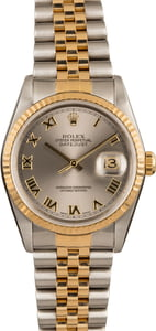 Pre-Owned Rolex Datejust 16233 Rhodium Roman Dial