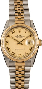 Rolex Two-Tone Datejust 16233 Champagne Dial