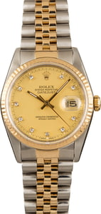 Men's Rolex DateJust 16233 Diamond Dial