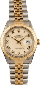 Pre-Owned Rolex Datejust 16253 Ivory Roman Dial