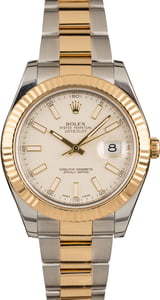 Used Rolex DateJust 41MM Ivory Dial
