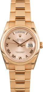 Rose Gold Rolex Day Date 118205