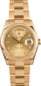 Pre-Owned Rolex Day-Date 118208 Diamond Dial