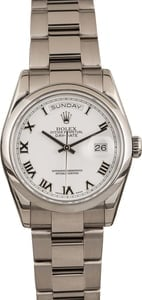 Pre Owned Rolex Day-Date 118209 18k White Gold