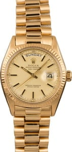 Pre-Owned Rolex President 1803 Champagne Index Dial