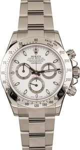 Pre-Owned Rolex White Dial Daytona 116520
