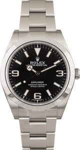 Used Rolex Explorer 214270 Black Dial