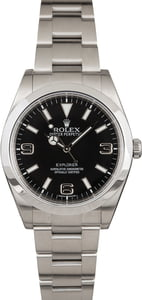 Pre Owned Rolex Explorer 214270 Smooth Bezel