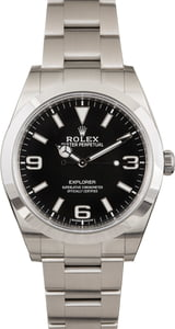 Pre Owned Rolex Explorer 214270 Black Dial