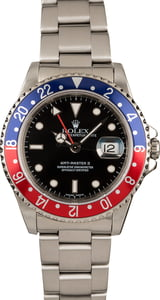 Pre-Owned Rolex 'Pepsi' GMT Master II Ref 16710 GMT Bezel