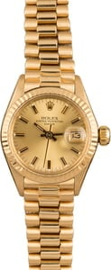 Vintage Ladies Rolex President 6917 Champagne Dial