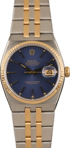 Oyster Quartz Rolex Datejust Blue Dial