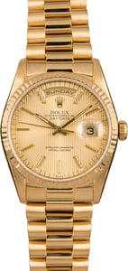 Pre-Owned Rolex 36MM President 18238