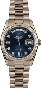 Pre-Owned Rolex President 118239 Blue Diamond Dial