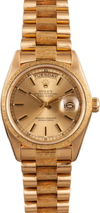 Pre-Owned Rolex President Day Date 18078 Bark Finish