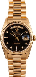 Pre-Owned Rolex Presidential Day-Date Diamond 18238