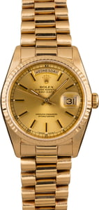 Rolex 18238 18K Yellow Gold Day-Date