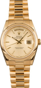 Pre-Owned Rolex President 118208 Tapestry Dial