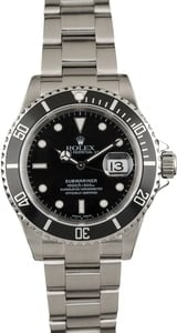 Used Submariner Rolex Stainless 16610