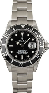 Used Rolex 16610 Black Dial Submariner Stainless Steel