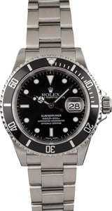 Pre Owned Submariner Rolex Stainless Steel 16610