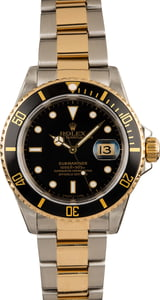 Pre-Owned Rolex Submariner 16613 Black Dial Watch