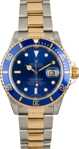Used Rolex Submariner 16613 Blue Bezel