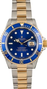 Pre Owned Rolex Submariner 16613 Blue Bezel