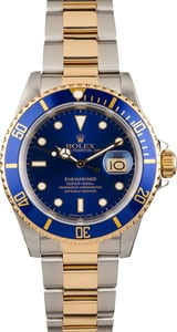 Pre Owned Blue Bezel Rolex Submariner 16613