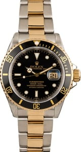 Pre-Owned Rolex Submariner 16613 Black Bezel