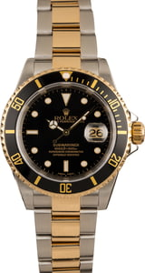 Pre-Owned Rolex Submariner 16613 Black Luminous Markers