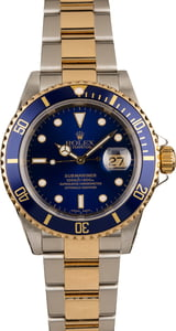 Pre-Owned Rolex 16613 Submariner Blue Bezel