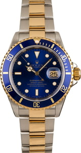 Pre-Owned Rolex 16613 Submariner Blue Dial