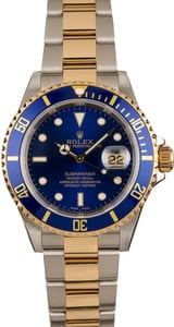 Pre-Owned Rolex Submariner Blue Bezel 16613 100% Authentic