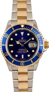 Pre-Owned Rolex Two Tone 16613 Submariner