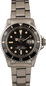 Vintage 1975 Rolex Red Submariner 1680 Feet First Dial