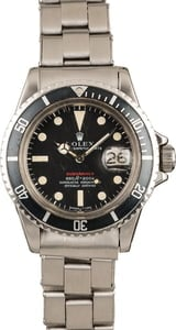 Vintage 1972 Rolex 1680 Red Submariner