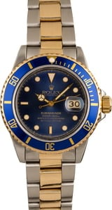 Pre-Owned Rolex Submariner 16803 Two Tone Model T