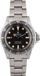 Vintage 1982 Rolex Submariner 5513 Mark 4 Dial