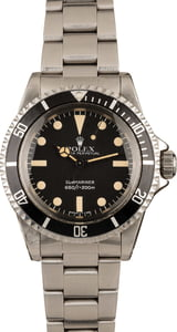Vintage 1981 Rolex Submariner 5513 Stainless Steel