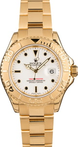 Pre-owned Rolex 18K Yellow Gold Yacht-Master