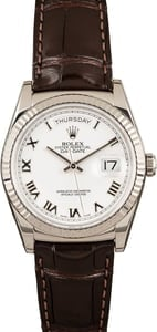 Rolex White Gold Day-Date 118139