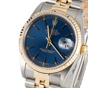 Rolex Datejust 16233 Two Tone Blue Dial