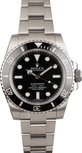 Used Rolex Submariner Steel 114060 Ceramic Bezel