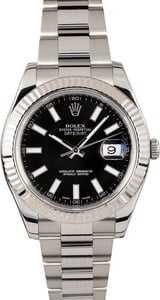 Rolex DateJust II Black Luminous Dial 116334