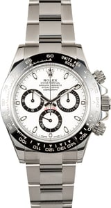 Used Rolex Daytona 116500 Black Ceramic Bezel White Dial