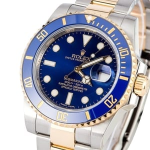 Rolex Blue Submariner 116613 Steel and Gold
